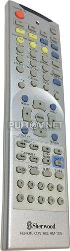 RM-108 пульт для DVD-проигрывателя Sherwood VR-758 и др.