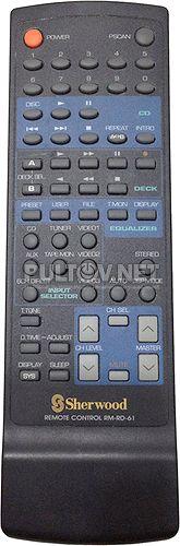 RM-RD-61 пульт для AV-ресивера Sherwood RD-6405 и др.