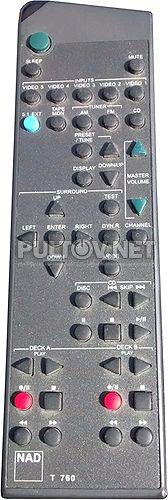 T760 пульт для AV-ресивера NAD T761