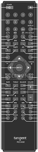 MCS-650 пульт для музыкального центра TANGENT