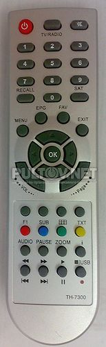 Technosat TH-7300 , Sat-Integral TH-7200 PVR пульт для спутникового ресивера