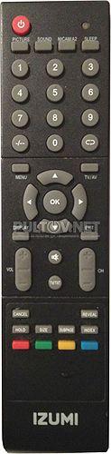TL-19H405B пульт для телевизора IZUMI (вариант 2)