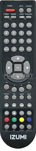 TLE-32H300B, TLE32H300B, TLE32F300B  пульт для телевизора IZUMI