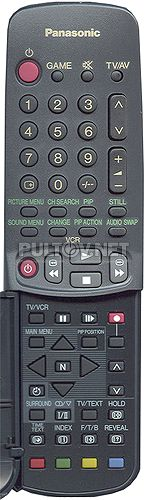 TNQE070, PANASONIC TNQE071, TNQE072, EUR511022 пульт для телевизора TX-25GF85 и других