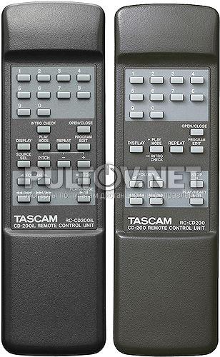 Tascam RC-CD200, RC-CD200iL пульт для CD-проигрывателя Tascam CD-200 и др.