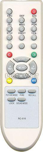 RC-816 , SHIVAKI RC-816 пульт для телевизора