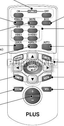 Vision U2-1200 пульт для проектора