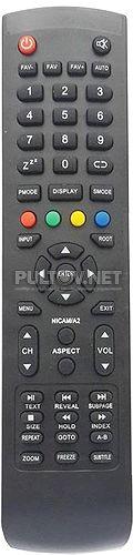 WL52JC002 пульт для телевизора AKAI LTA-15A15M