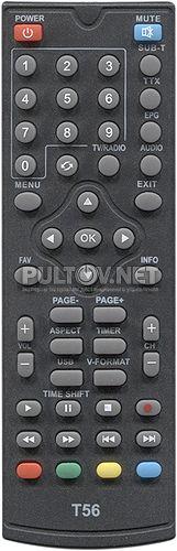 T56, TESLER DSR-590I пульт для DVB-T2-приставки