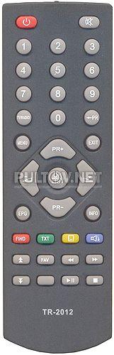 LUMAX Y-133A2, Trimax TR-2012 пульт для DVB-T2-ресивера