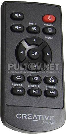RM-820 пульт для внешней звуковой карты Creative X-Fi Surround 5.1 Pro