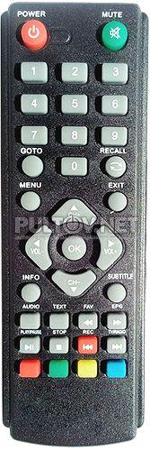 DENN DDT101 пульт для DVB-T2-ресивера DENN