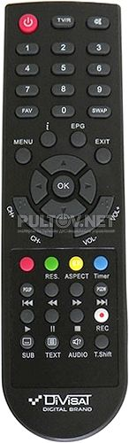 DVS HD-600T2 пульт для DVB-T2-ресивера Divisat
