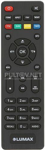 DV-2118HD пульт для DVB-T2-ресивера Lumax