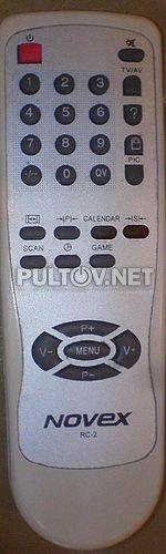RC-2, BT-0424A пульт для телевизора NOVEX СТ2164FS (2007 года выпуска) и других