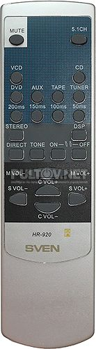 HR-920 пульт для усилителя Sven