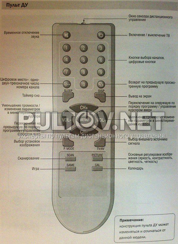 RUBIN телевизор 37M10-7.  По указанной цене пульт будет немного другой внешне, но полностью рабочий.