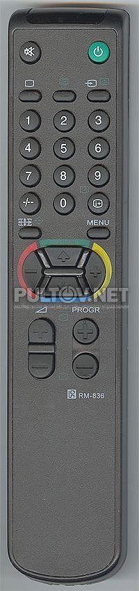 SONY RM-836 неоригинальный пульт для телевизора Sony KV-M2171KR и других.