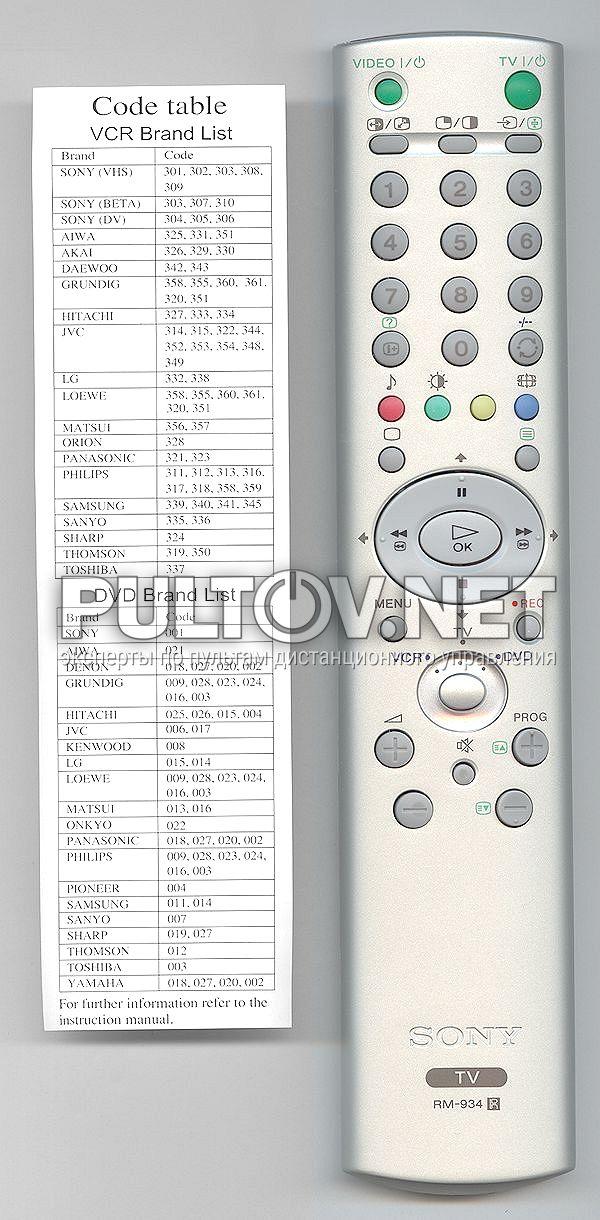 SONY RM-934 [TV]оригинальный