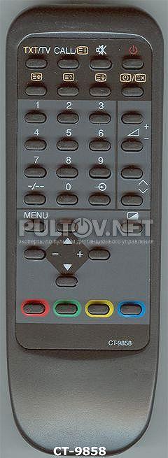Этот пульт подходит к следующей аппаратуре:TOSHIBA телевизор 21D3XRT TOSHIBA телевизор 21G3XR TOSHIBA телевизор...
