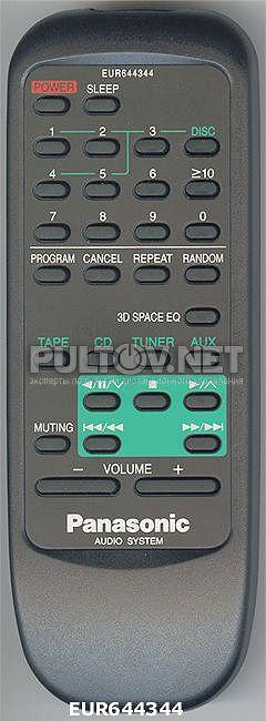 PANASONIC EUR644344 пульт для