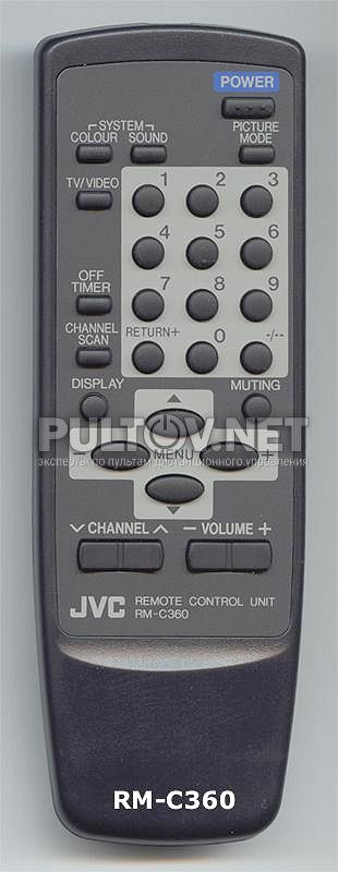 Оригинальный пульт JVC RM-C360
