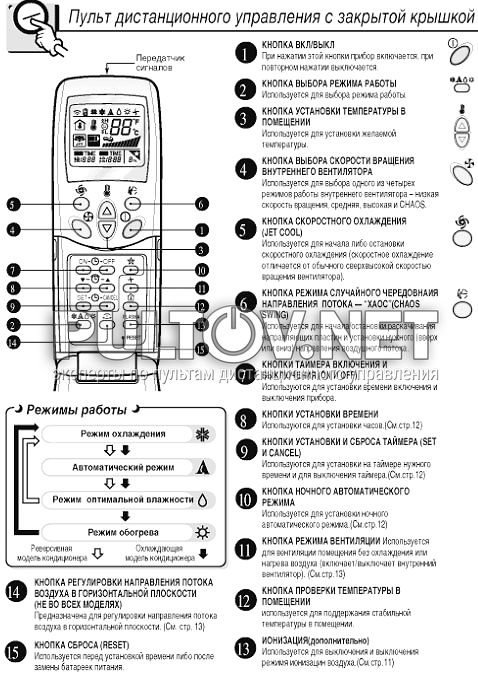 Кондиционер lg ls-t246abl инструкция