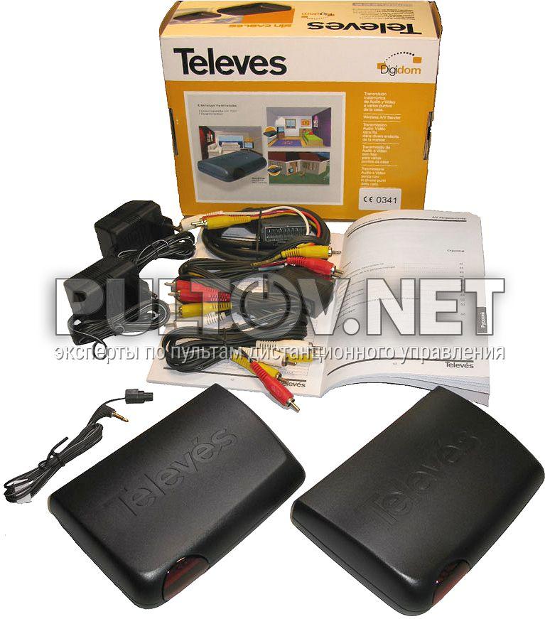 Удлинители сигналов аудио-видео + поддержка пульта ДУ (модель Televes 7307) .