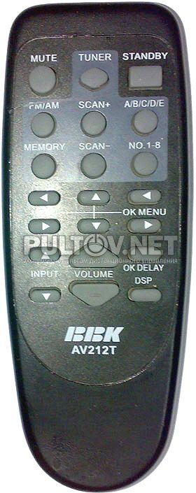 BBK AV212T пульт для усилителя