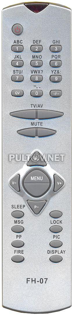 VESTEL FH07 пульт для