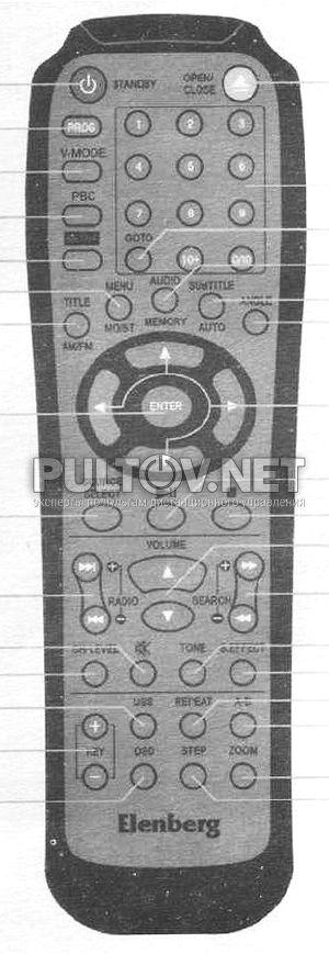 Elenberg MC-4070DVD пульт для