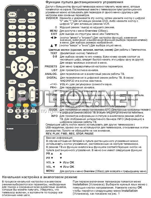 телевизор томсон инструкция пульт - фото 9