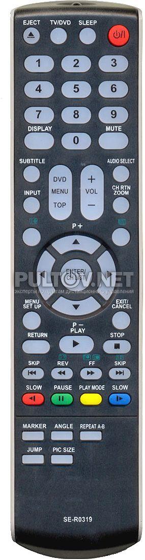 TOSHIBA SE-R0319 НЕоригинальный пульт для телевизора 15SLDT2, 19SLDT2 и 22SLDT2.
