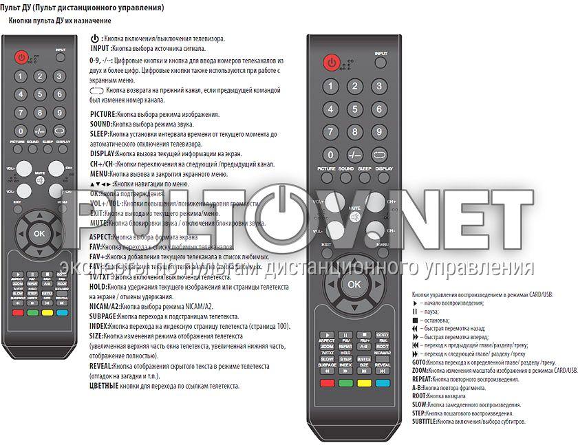 телевизор stv-lc2625wl - Пульты ДУ! Интернет-магазин ПДУ! Большой GC410